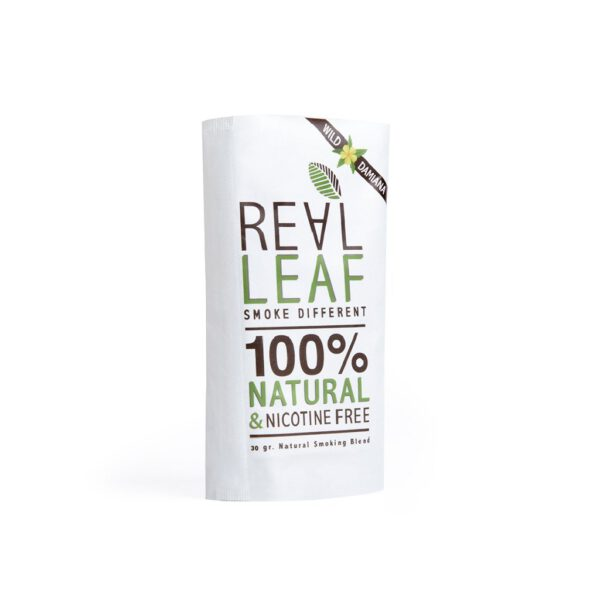 smoking damiana herbal tobacco by real leaf