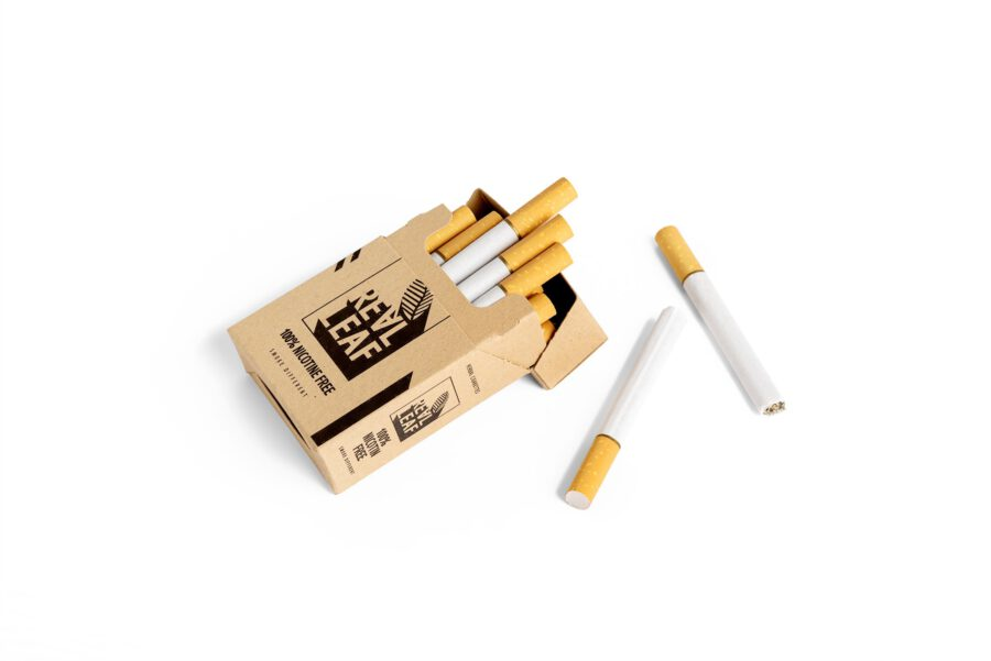 Herbal Cigarettes additive and  Nicotine Free & Tobacco by RealLeaf
