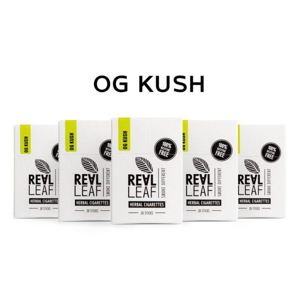 Smoking terpenes of OG Kush in herbal cigarettes