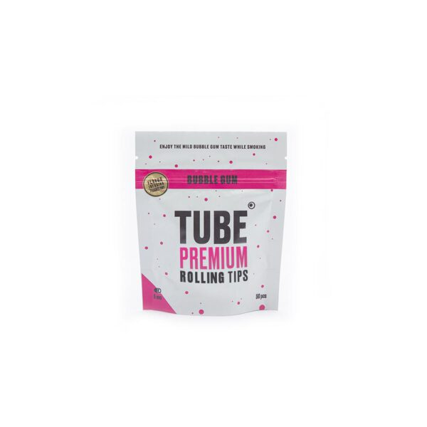 Tube filter tips with Bubble Gum flavour (6mm)